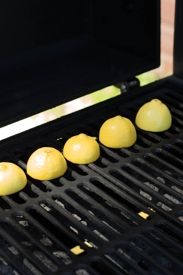 Grilled lemon sauce