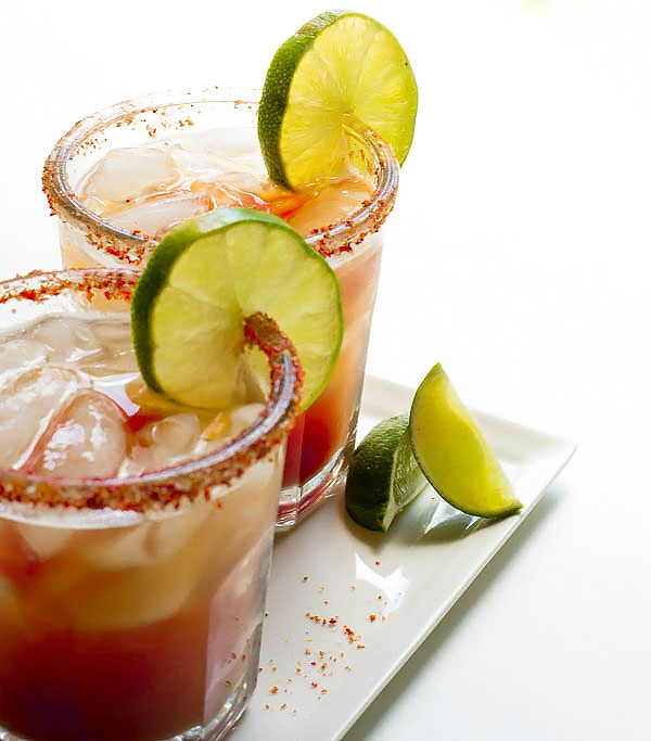 s Life Changing Spicy Michelada is a spicy Mexican take on the classic beer + tomato juice, spiced up with a zesty lime + salt rim for that extra bite!!